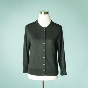 Patagonia M Black Merino Wool Cardigan Sweater